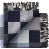 Silkeborg Uldspinderi plaid - Plain Beat Muted Blues