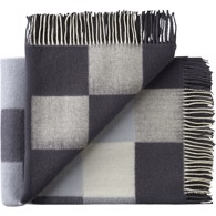Silkeborg Uldspinderi plaid - Plain Beat Dark Grey Notes