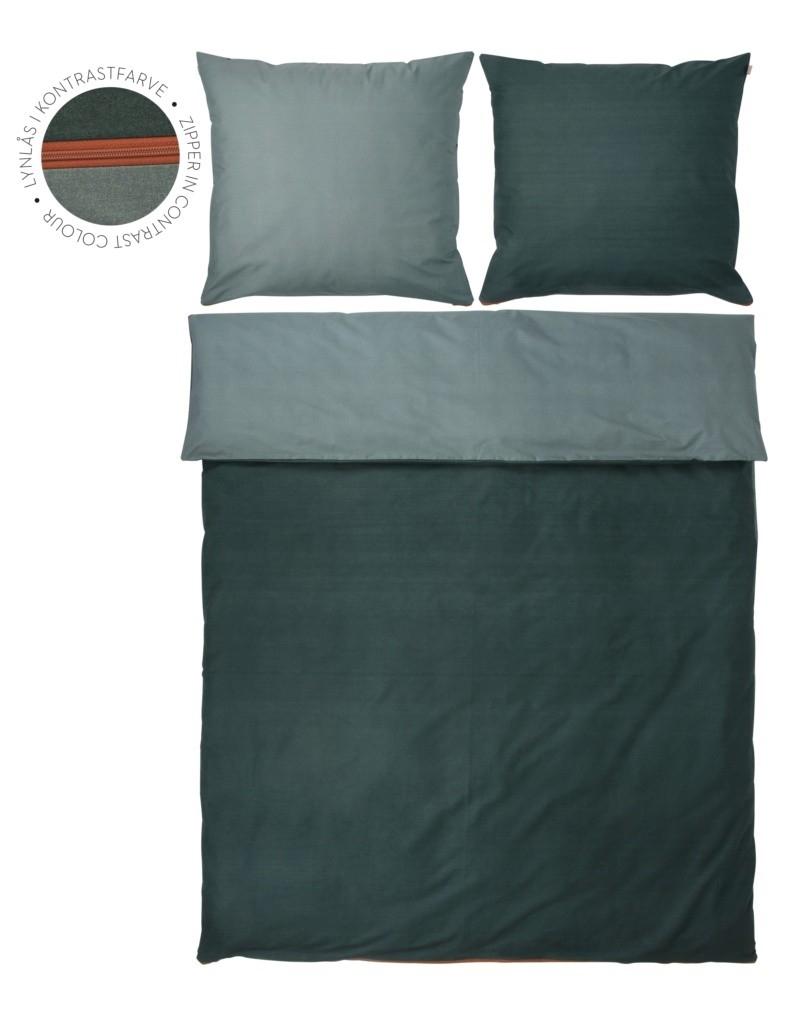 sengetøj 200x200 Køb Shades Pine Green sengetøj 200x200 cm her, Grøn Mette Ditmer  sengetøj 200x200