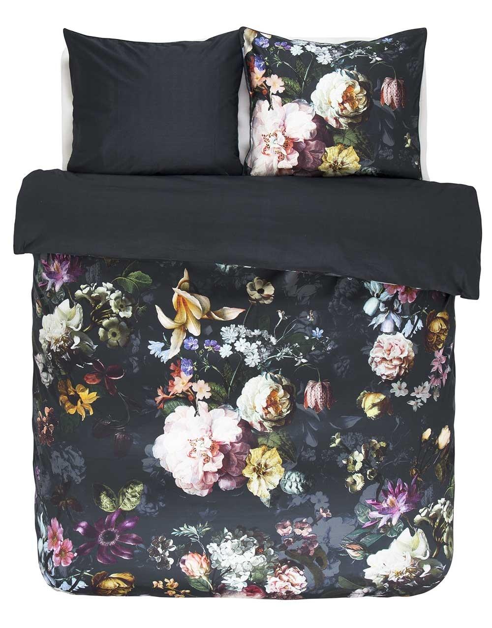 essenza sengetøj Køb Essenza Fleur Nightblue 200x200 cm sengetøj her. Fri fragt essenza sengetøj