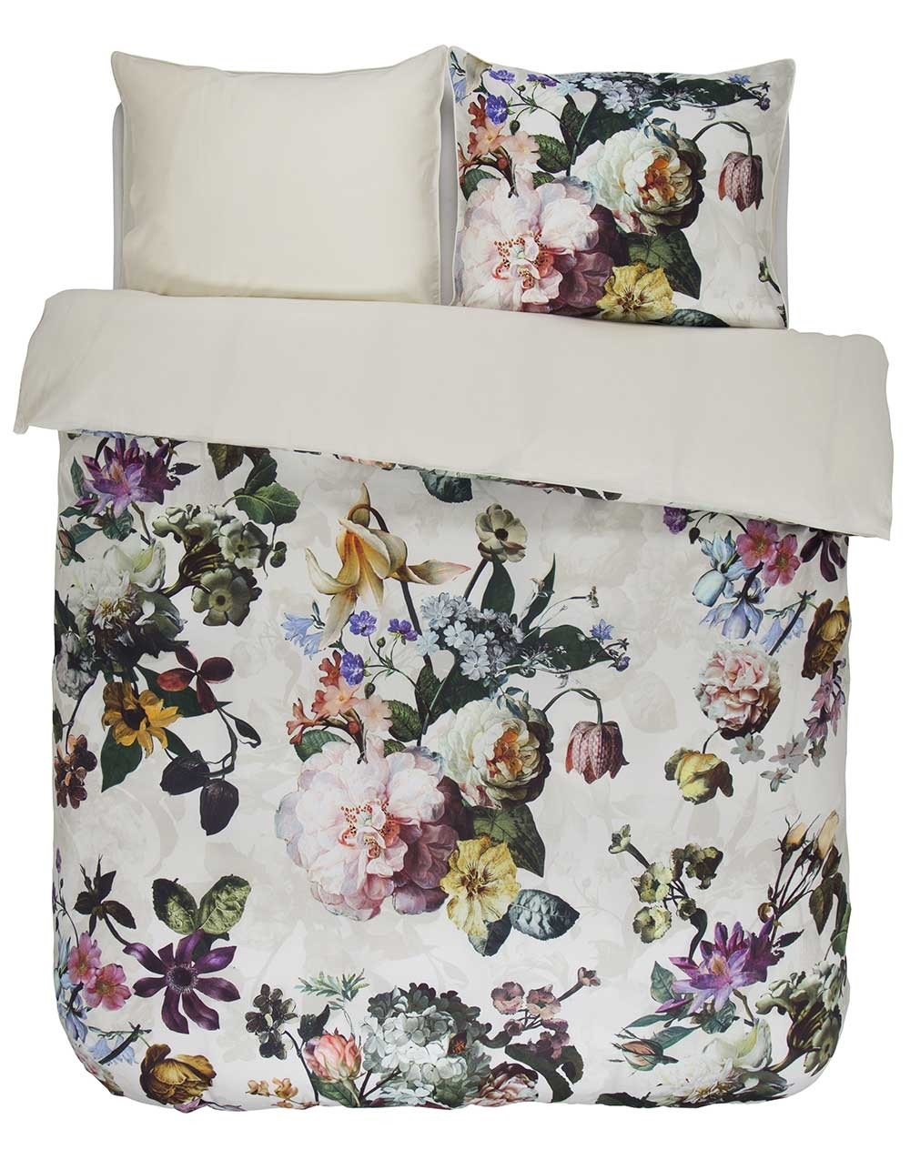 essenza sengetøj Køb Fleur Ecru sengetøj fra Essenza her. Blomster mønster i off white essenza sengetøj