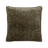 Cozy Living Copenhagen Pude - Velvet Printed Leaves - Army