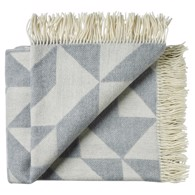 Silkeborg Uldspinderi plaid - Twist A Twill Light Grey