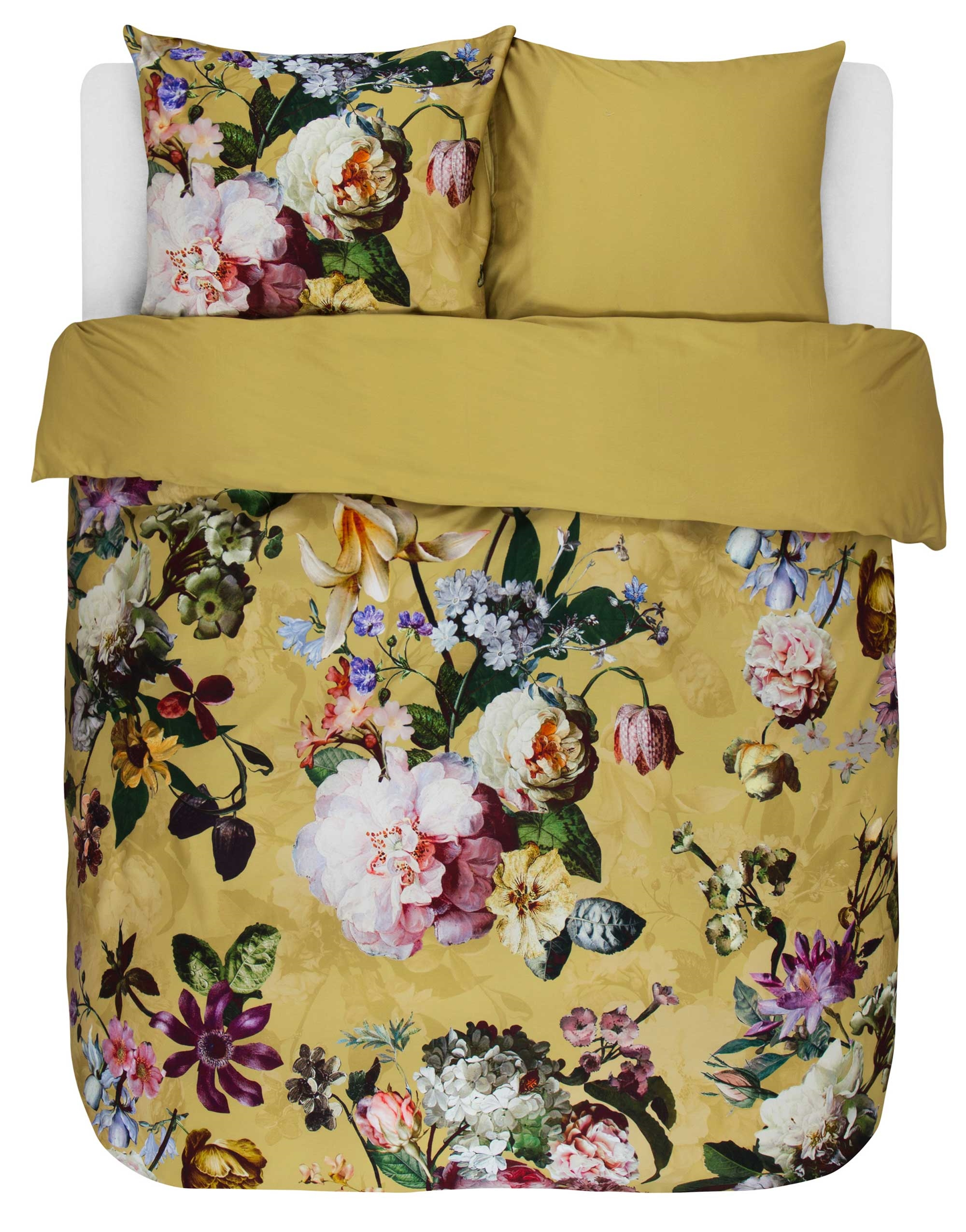 Picture of: Kob Fleur Golden Yellow Sengetoj Fra Essenza Her