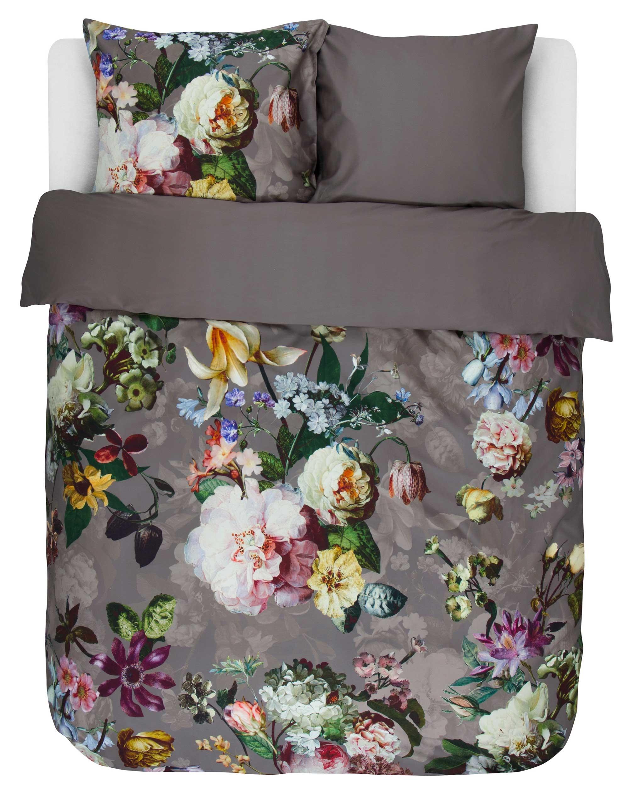 Moderne Køb Fleur Taupe sengetøj 140x220 cm fra Essenza her GL-32